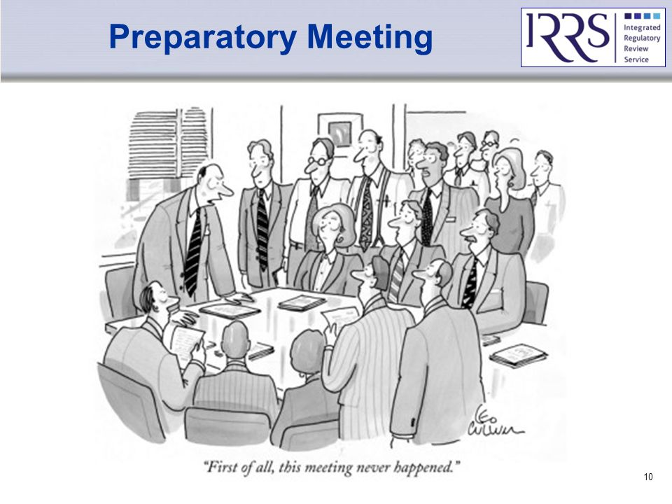 IAEA Preparatory Meeting Basic IRRS Training – Preparatory Phase10