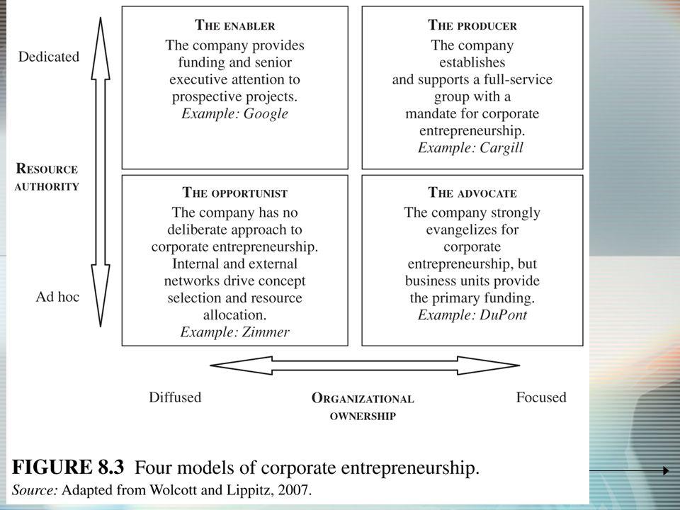 4 models of corporate entrepreneurship