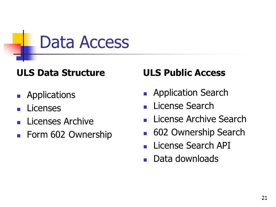 Wireless Telecommunications Bureau (WTB) Licensing System