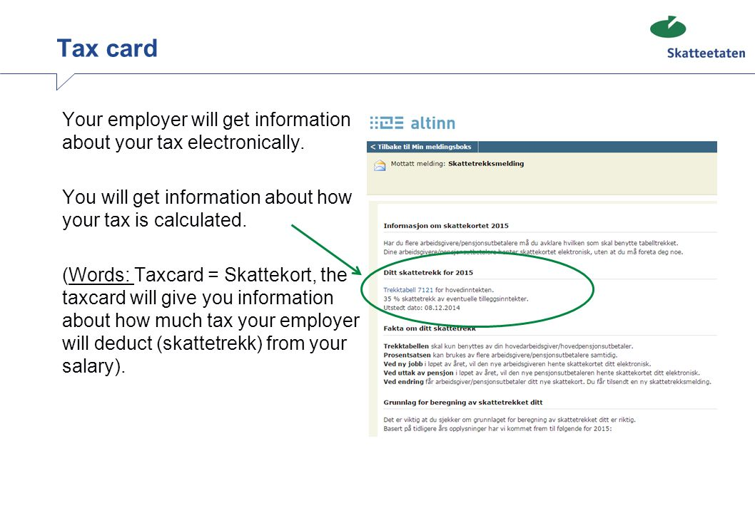 WORKING IN NORWAY Information about tax ppt download