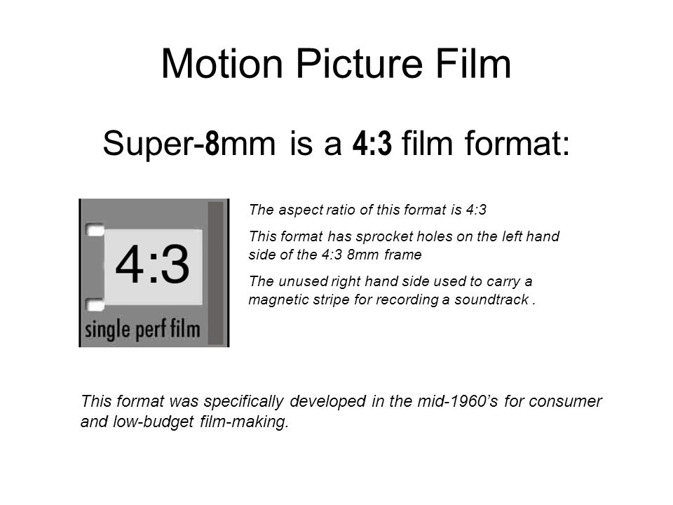 intro to super 8mm film motion picture film movie film is very