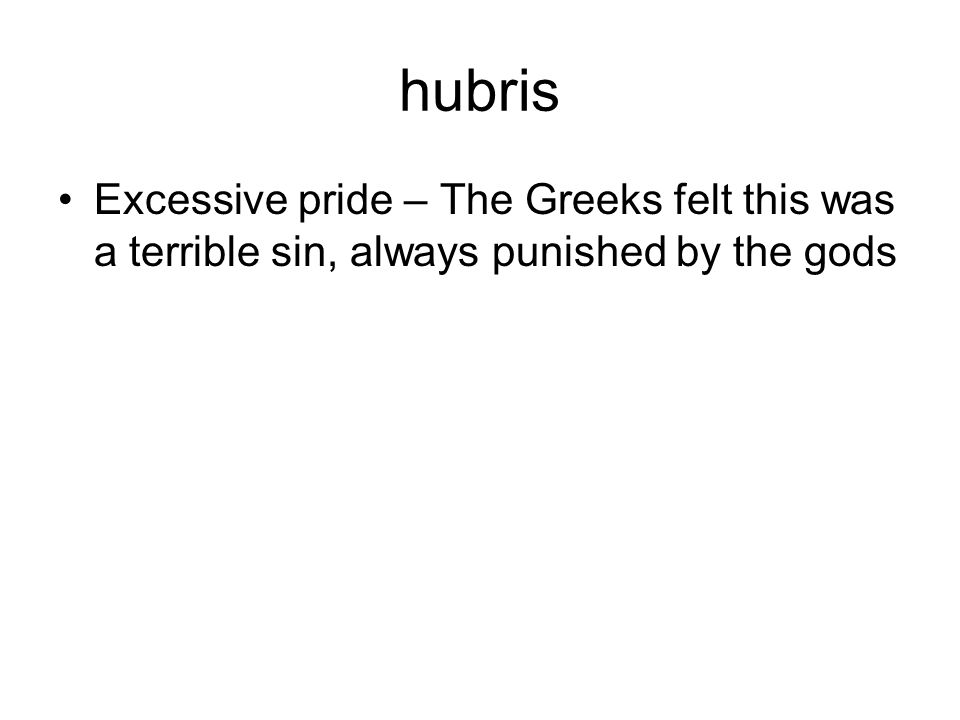 what is excessive pride