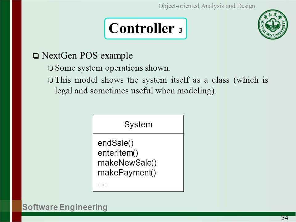 Software Engineering 1 Object-oriented Analysis and Design Applying