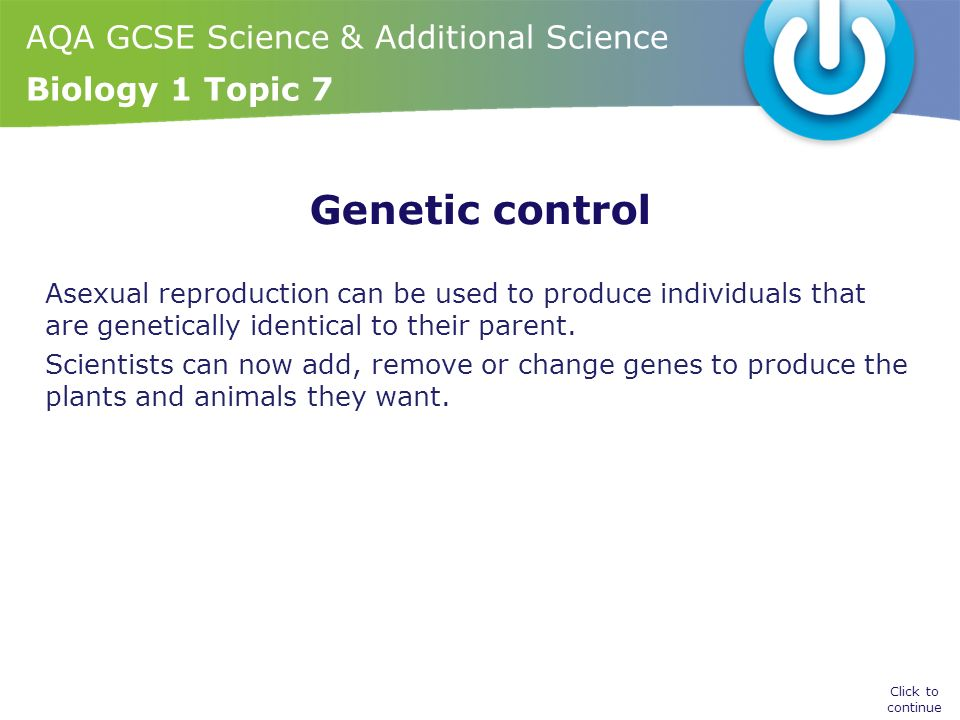 Main features of asexual reproduction gcse