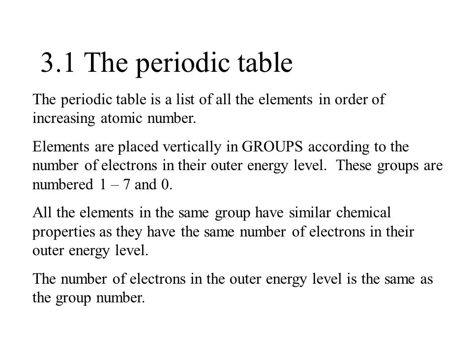 Periodicity hl and sl 31 the periodic table the periodic table is a 2 periodicity hl and sl urtaz Gallery