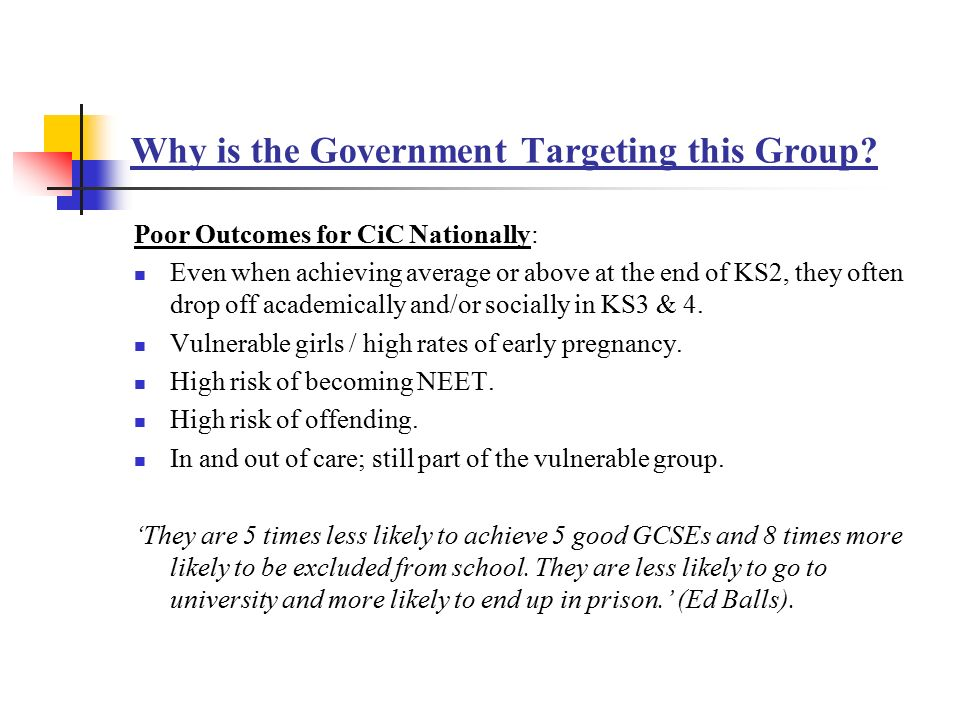 Why is the Government Targeting this Group.