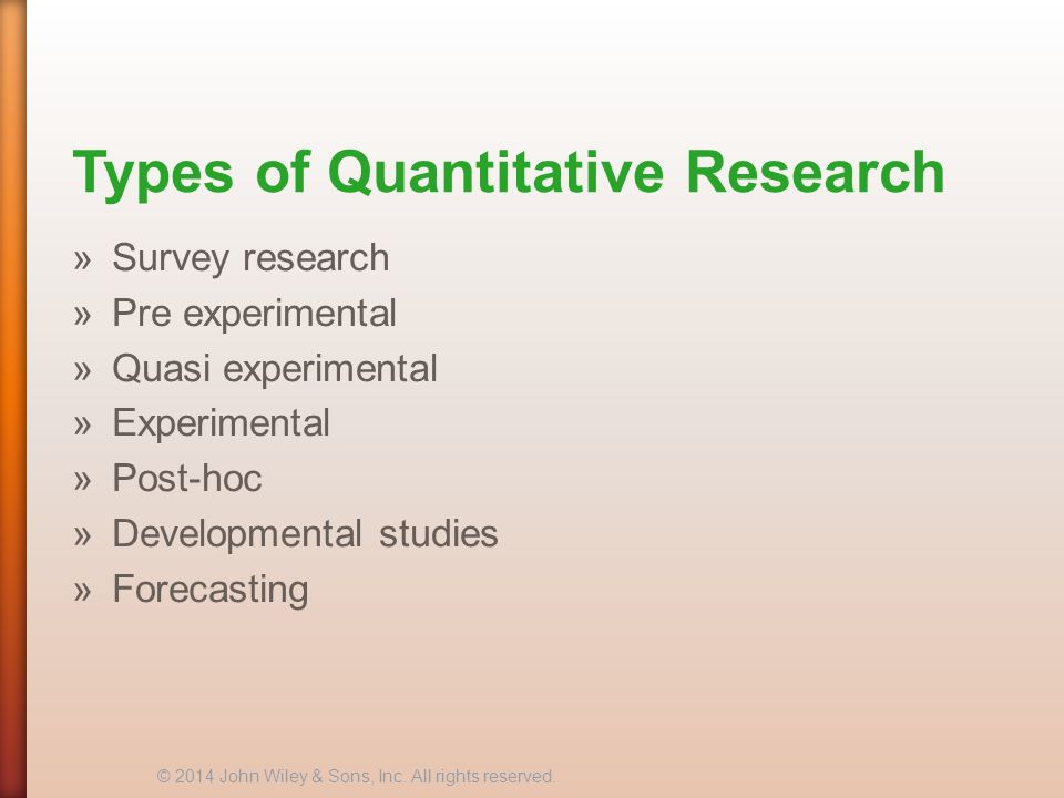10 types of research