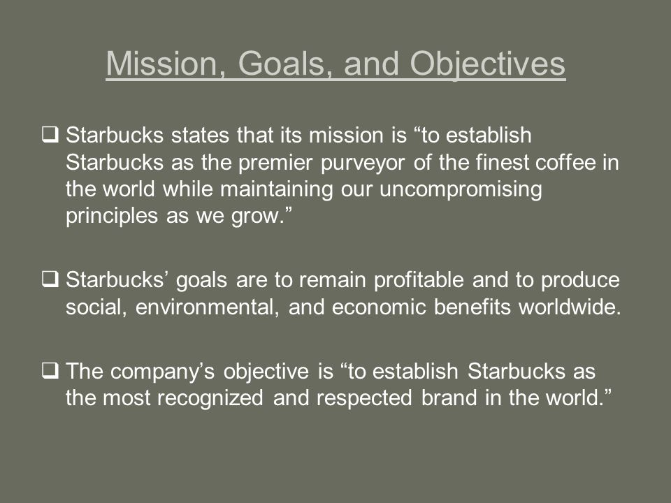 starbucks mission statement 1990