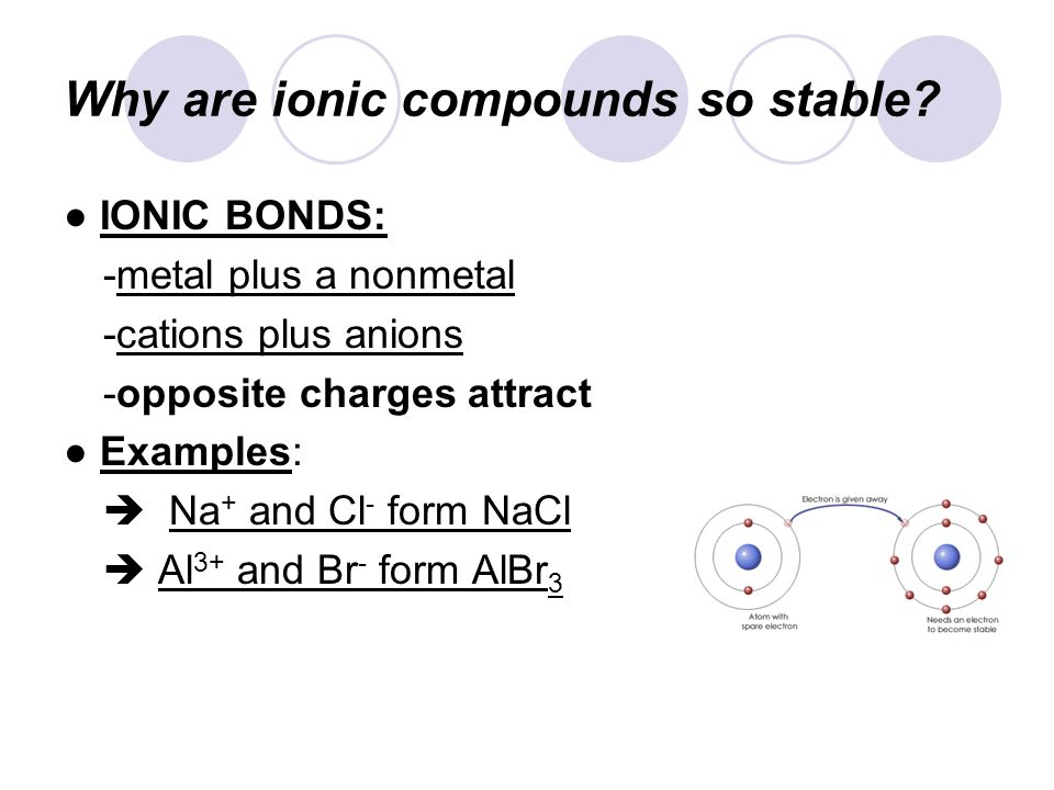 Why are ionic compounds so stable.