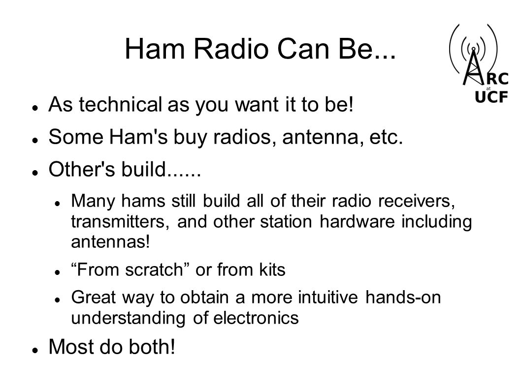 What Amateur Radio Is Radio station design and construction