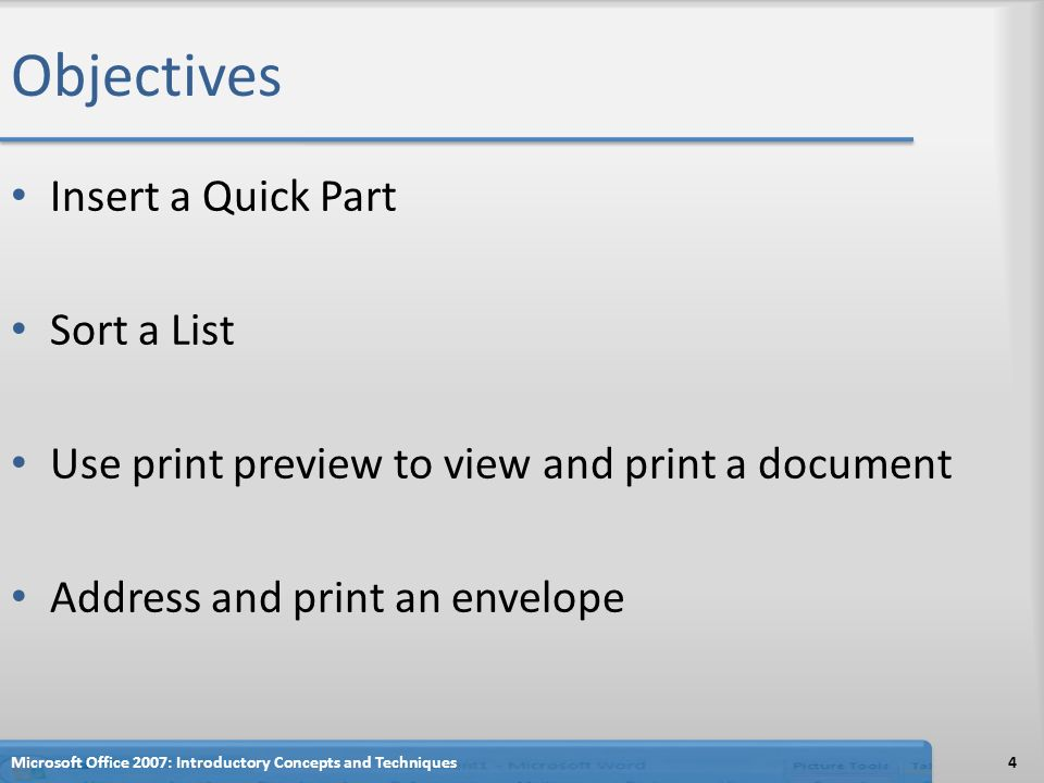 Microsoft Office 2007 Word Chapter 3 Creating a Cover Letter and a ...
