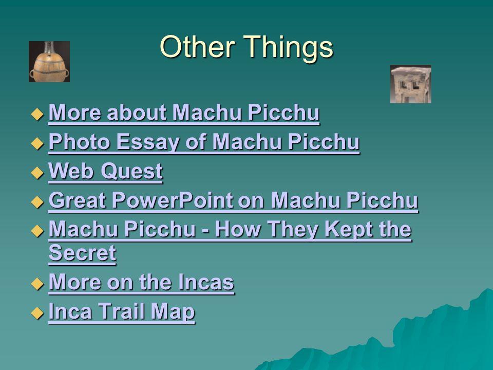 machu picchu essay