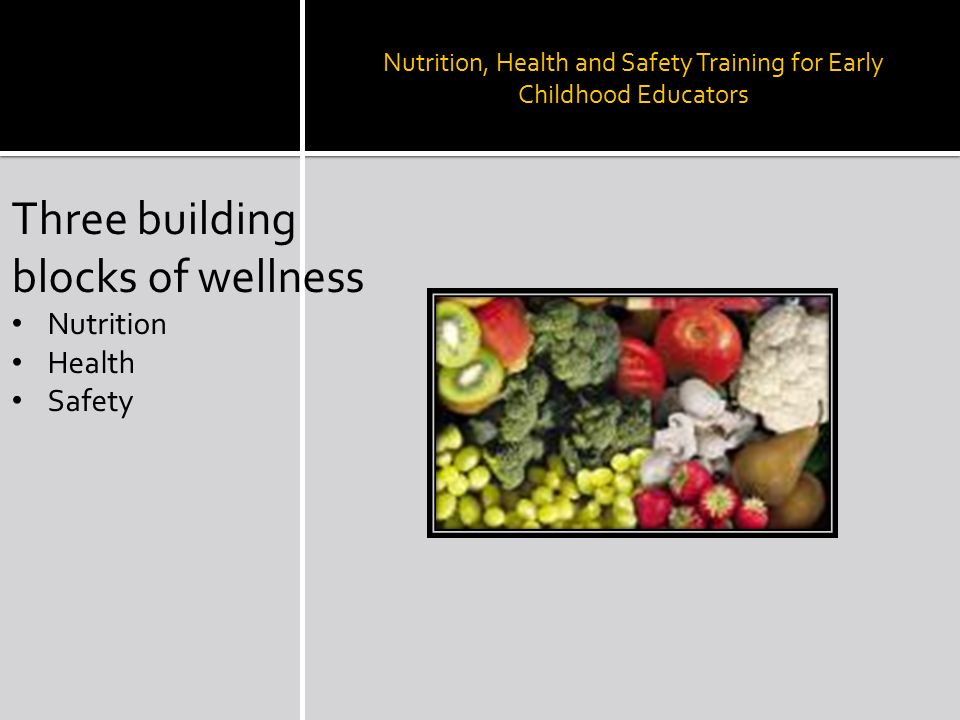 how can you promote health safety and nutrition in child development