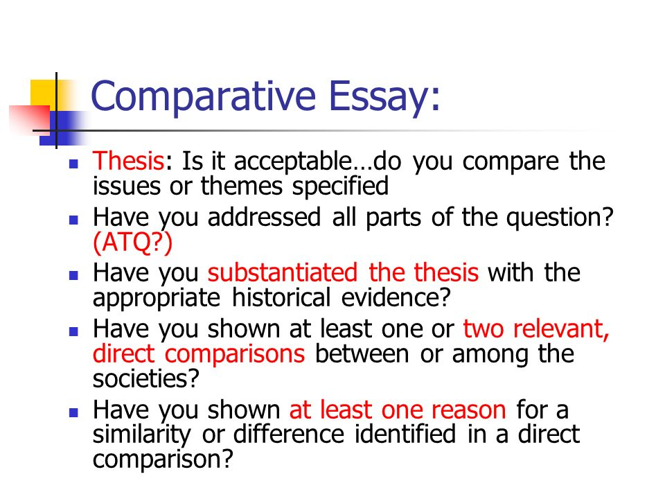 Research Paper Essay  Comparative Essay  Psychology As A Science Essay also English Essay Questions Continuity And Change Over Time And Comparative Essays Theyre A  English Essay Structure