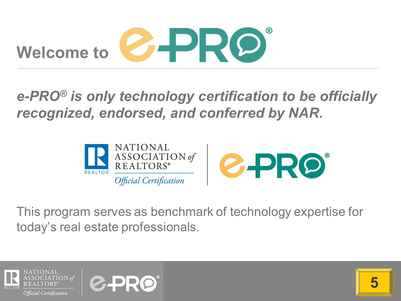 Welcome To E Pro Is Only Technology Certification To Be Officially