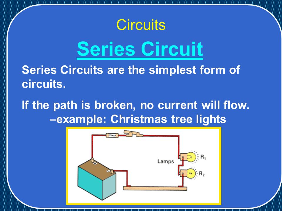 Circuits Series Circuits are the simplest form of circuits.