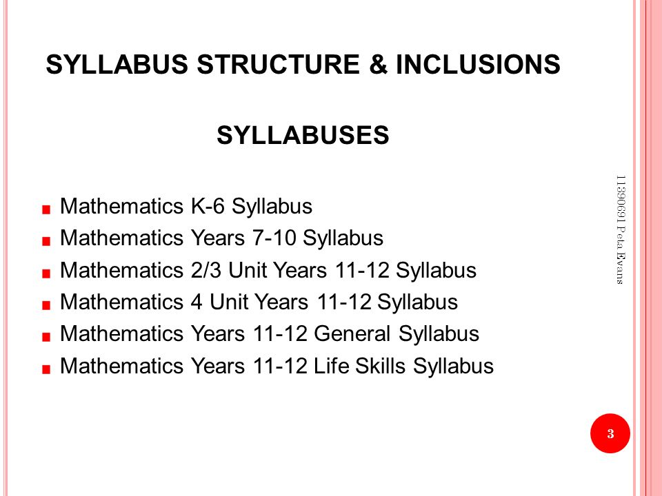 MATHEMATICS K-12 PRESENTATION MARCH RATIONALE OF KEY LEARNING AREAS ...