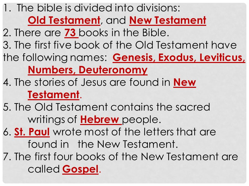the bible or the sacred writings summary