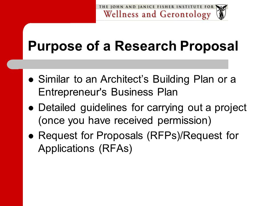 request for research proposal