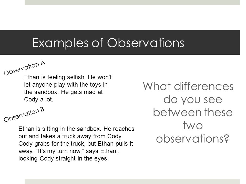 observation skills definition