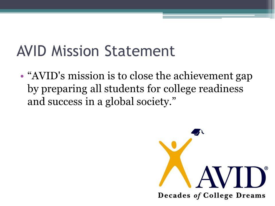 1 avid mission statement