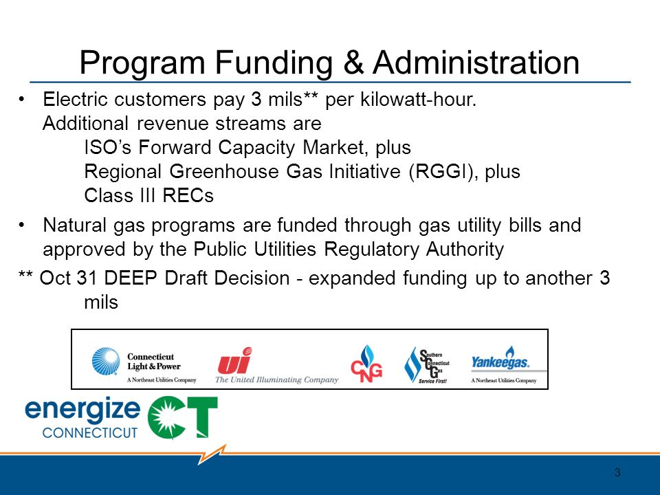 Program Funding U0026 Administration Electric Customers Pay 3 Mils** Per  Kilowatt Hour.