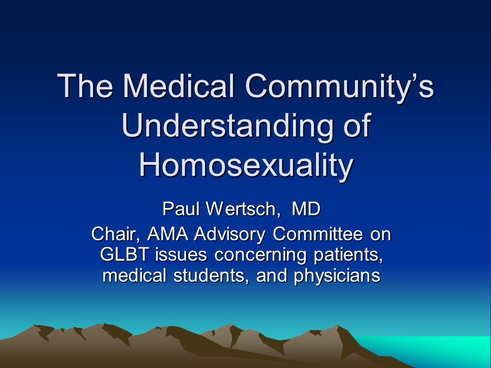 Medical understanding of homosexuality