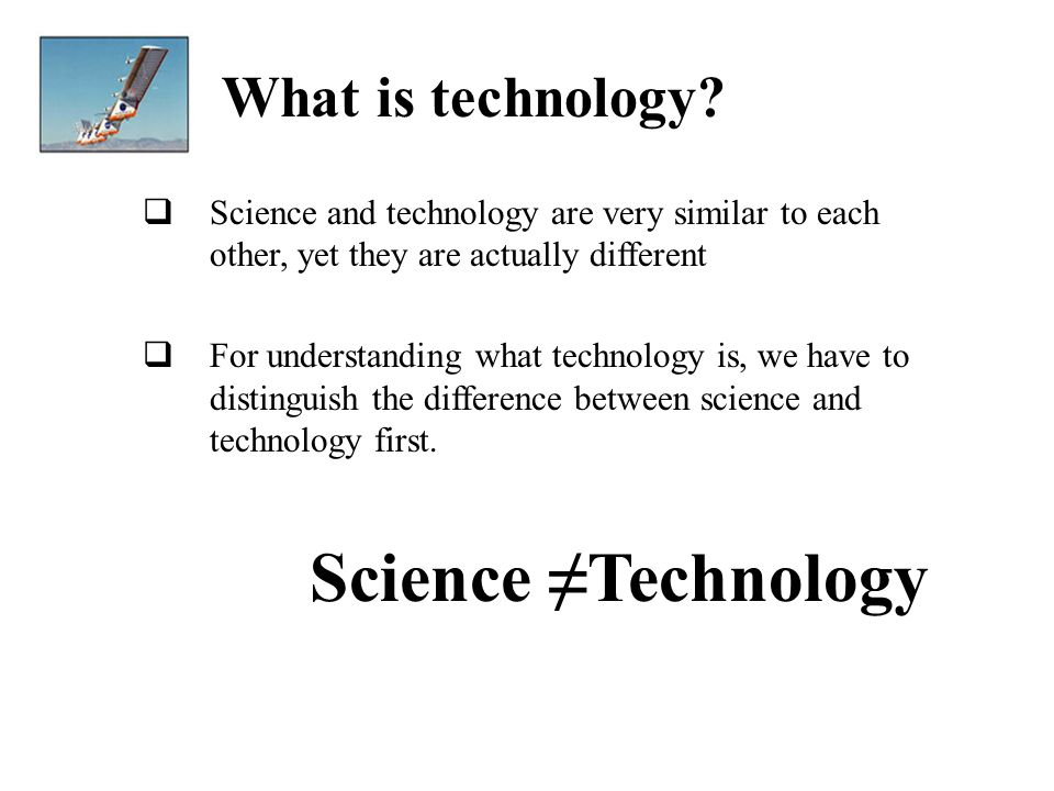 how technology and science are related