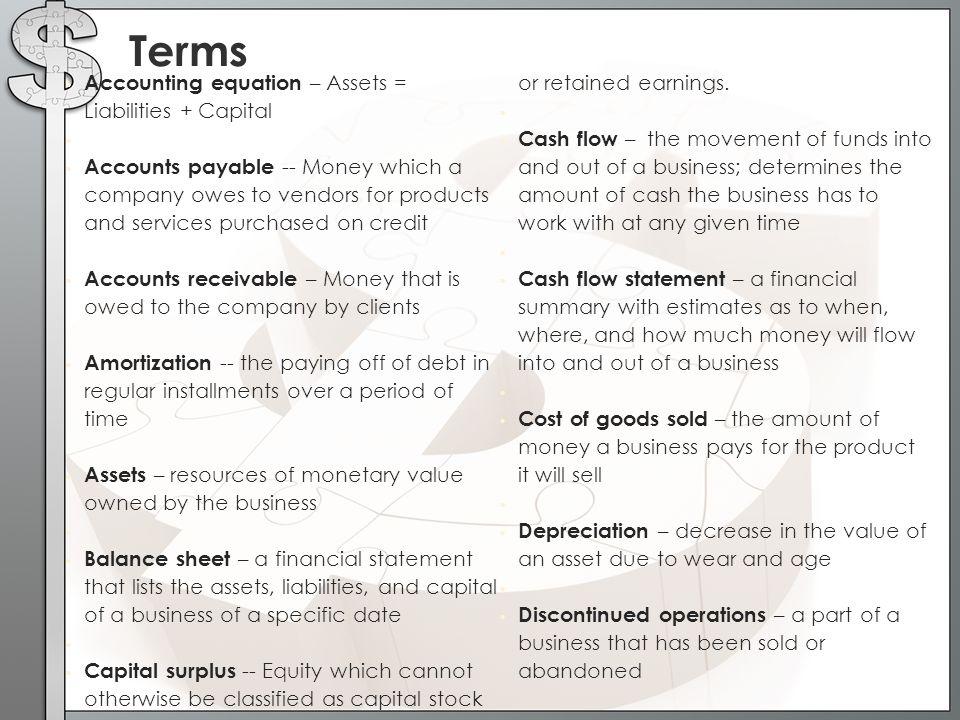 marketing management indicator accounting equation assets