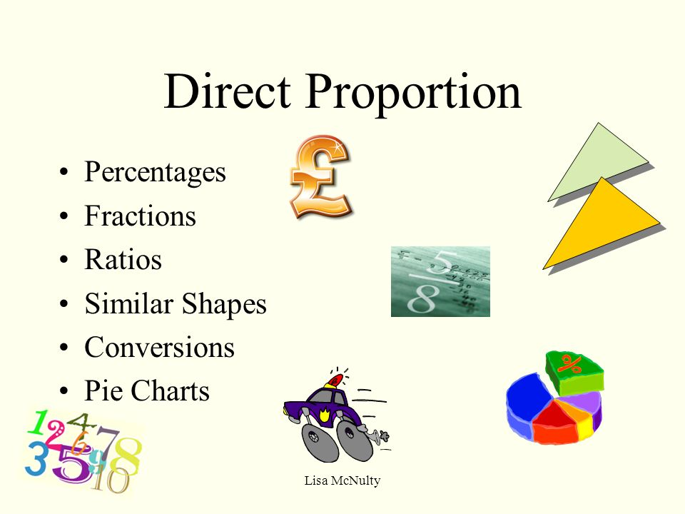 Lisa Mcnulty Direct Proportion Percentages Fractions Ratios Similar