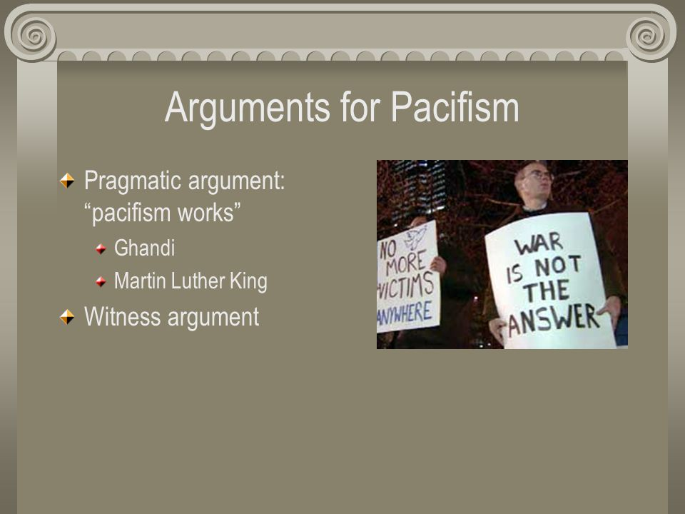 arguments against pacifism