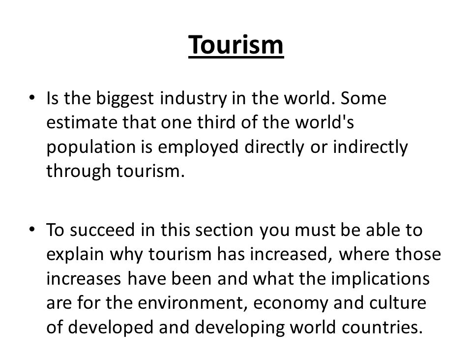 tourism in third world countries