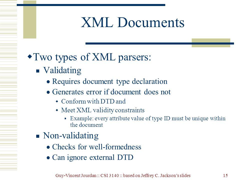 Non validating dom parser tutorial