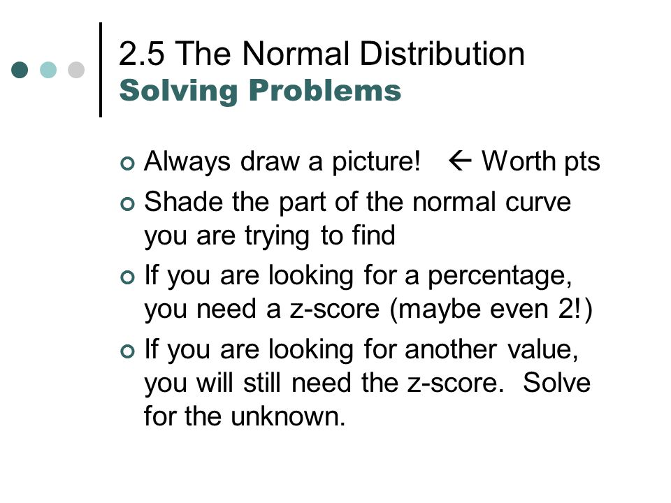 solved problems on normal distribution