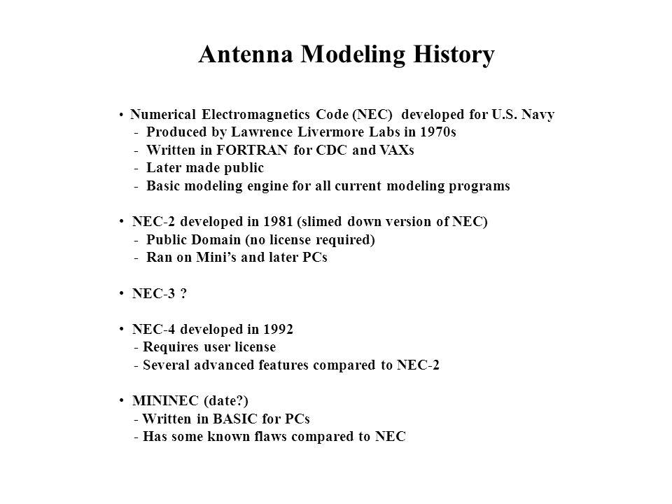Antenna Modeling Presented by: Dave Woolf - K8RSP Bob Kenyon