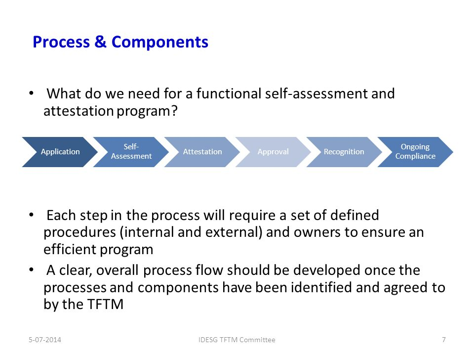 what do we need for a functional self assessment and attestation program