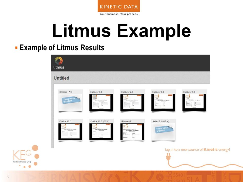 27 Litmus Example  Example of Litmus Results