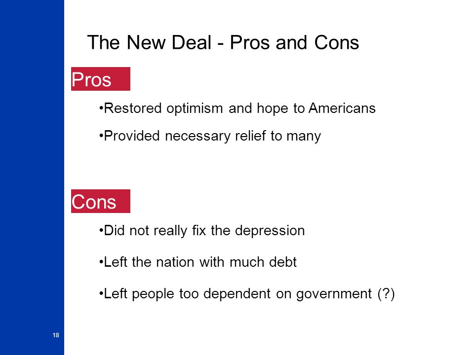 pros and cons of fdr