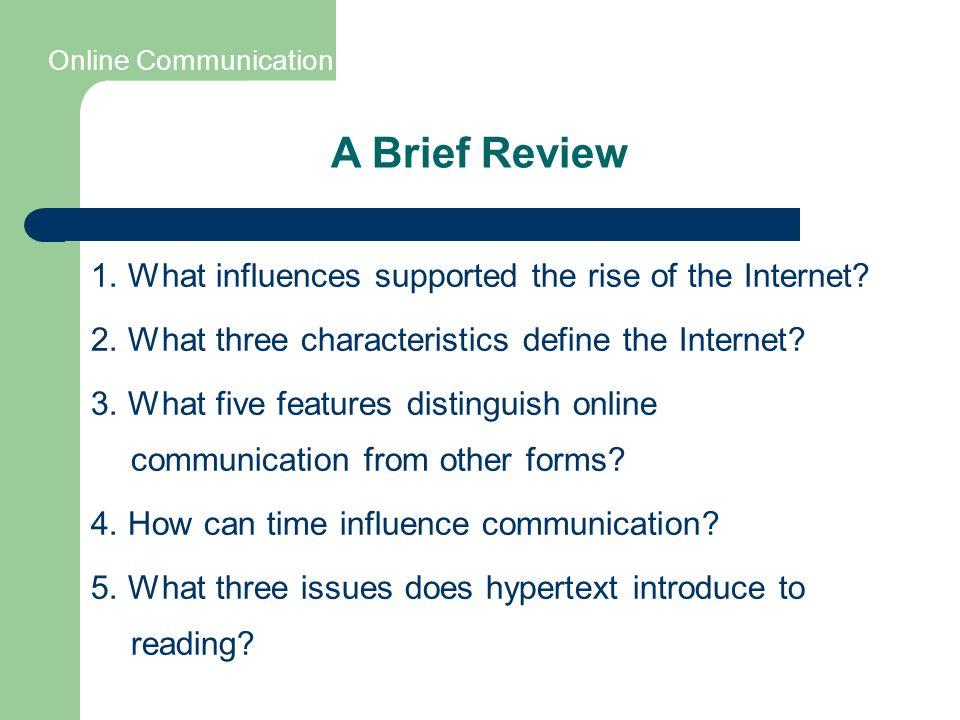 characteristics of online communication
