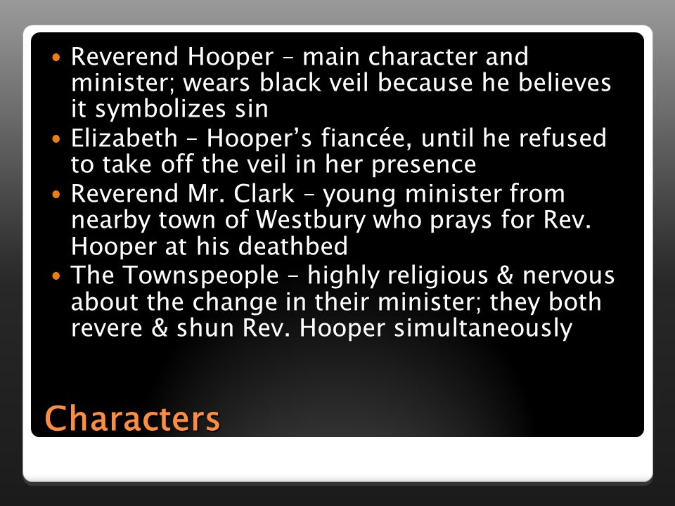The Minister S Black Veil By Nathaniel Hawthorne Ppt Download