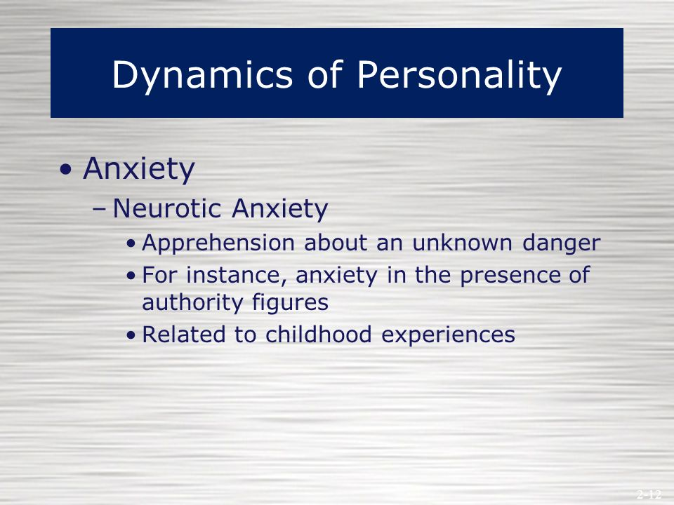 what is neurotic anxiety