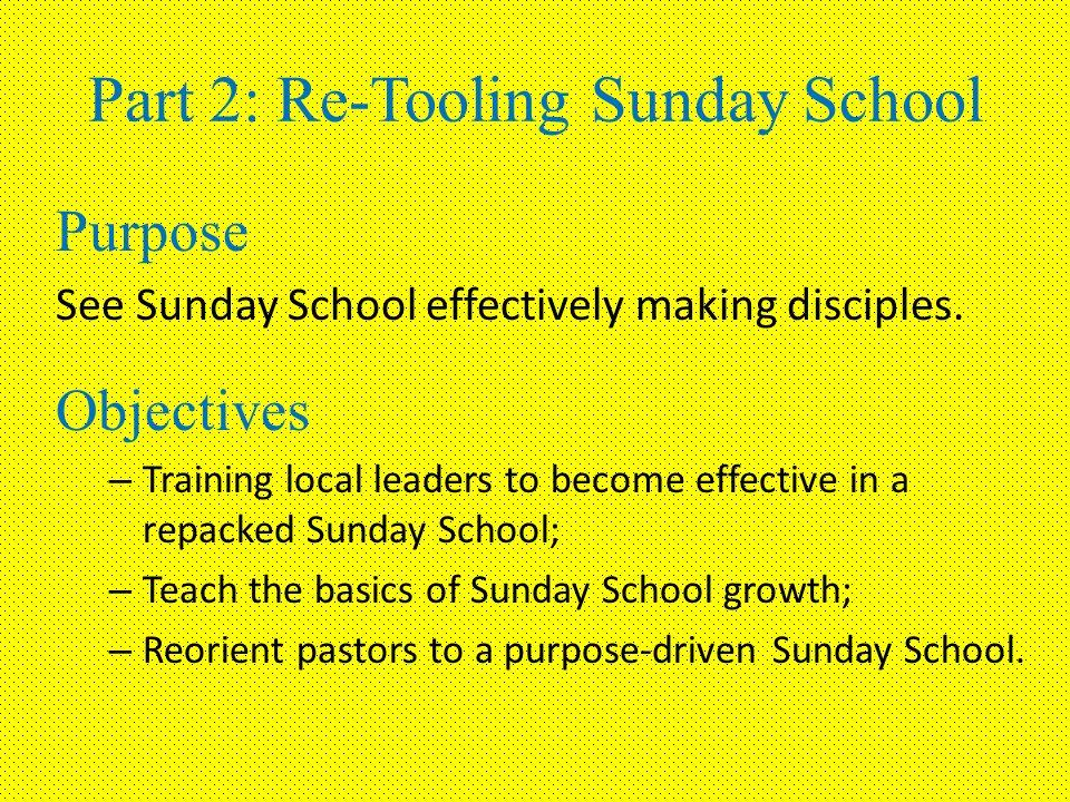Revitalizing Sunday School Part 2: Re-Tooling Sunday School Church
