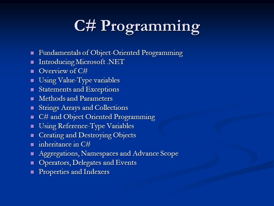 C Programming Fundamentals Of Object Oriented Programming