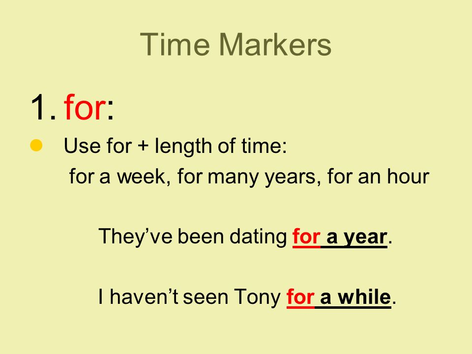 Time Markers 1.