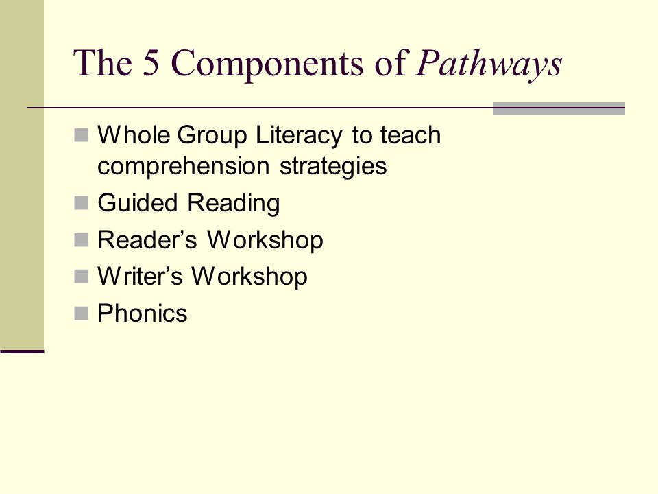 Pathways Literacy Unit Picture Resource Guide Power Point