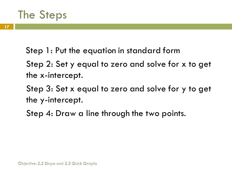 1 What You Will Learn Today 1 Review Of Slope 2 How To Determine