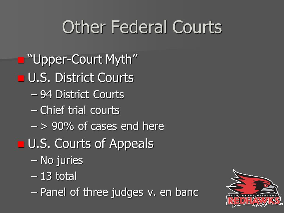 Other Federal Courts Upper-Court Myth Upper-Court Myth U.S.