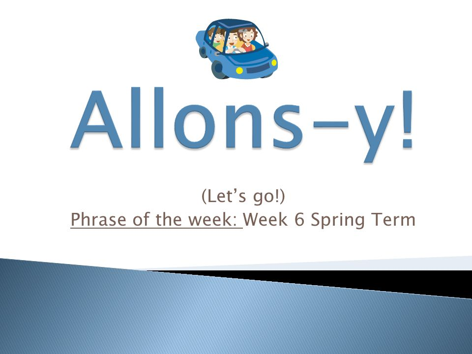 Happy New Year!) Phrase of the week: Week 1 Spring Term. - ppt download