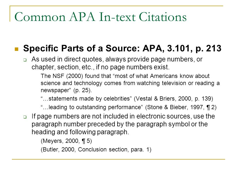 Alec 681 Seminar Apa Style In Text Citations Objectives