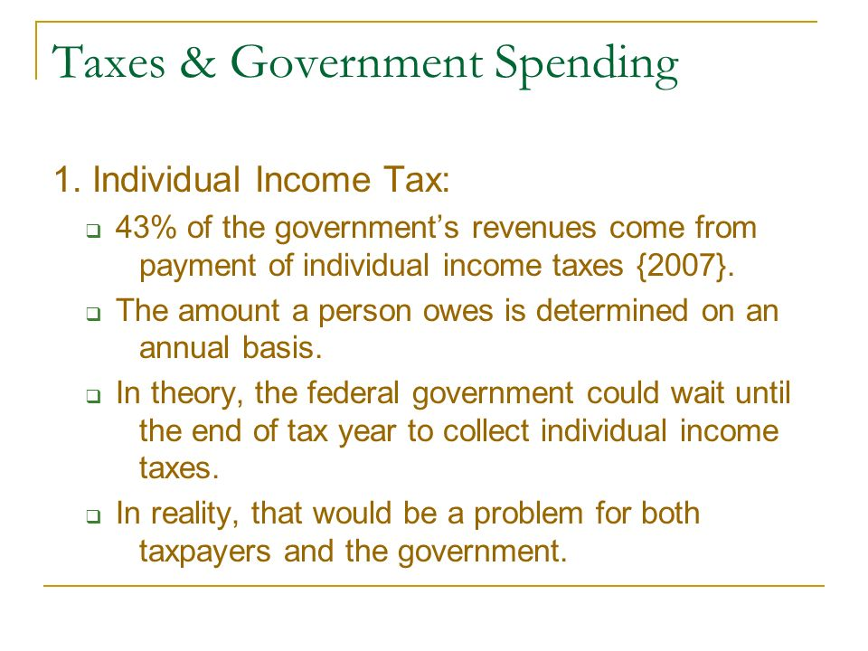 Taxes & Government Spending 1.